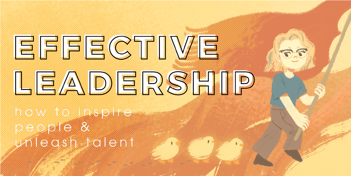 The feature image for a blog post on effective leadership.