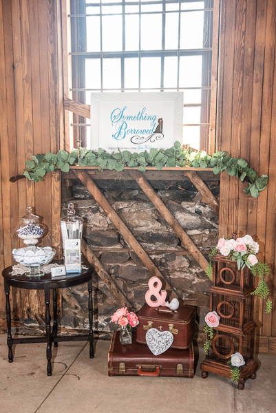 Something Borrowed display at Delaware wedding show