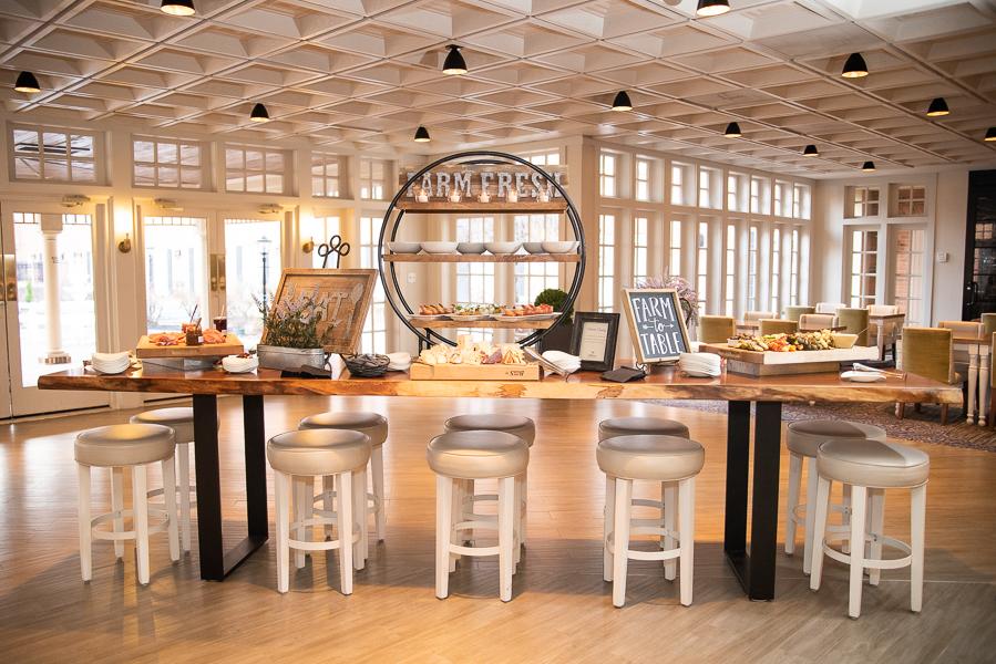 Farm fresh hors d'oeuvres for Hilton Christiana Wedding