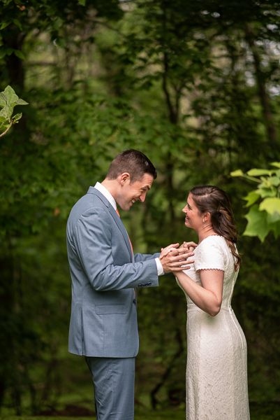 First look intimate Delaware wedding