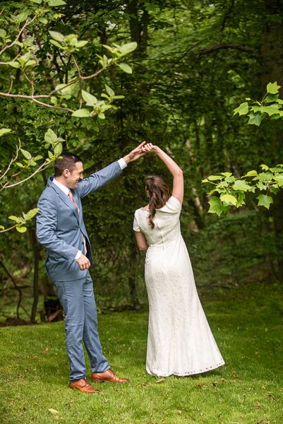Bride and groom intimate Delaware wedding