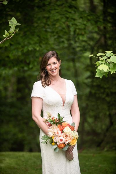 Bride before intimate Delaware wedding