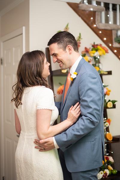 Intimate Delaware wedding reception