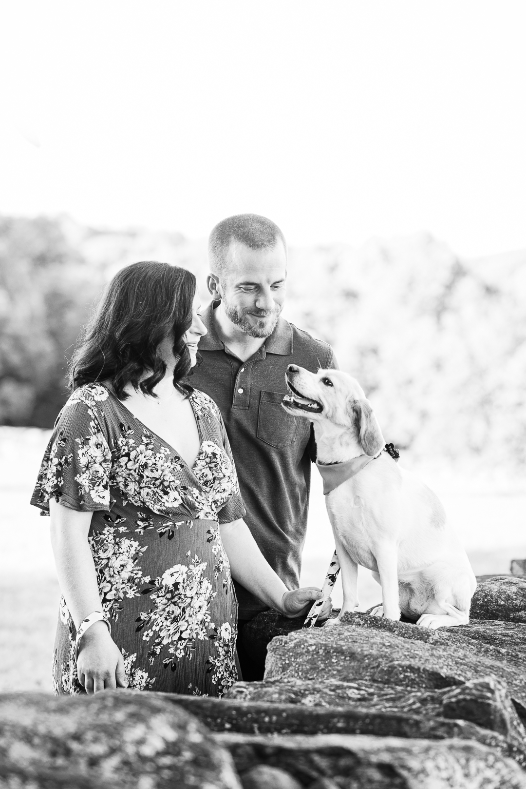 Delaware engagement session with dog
