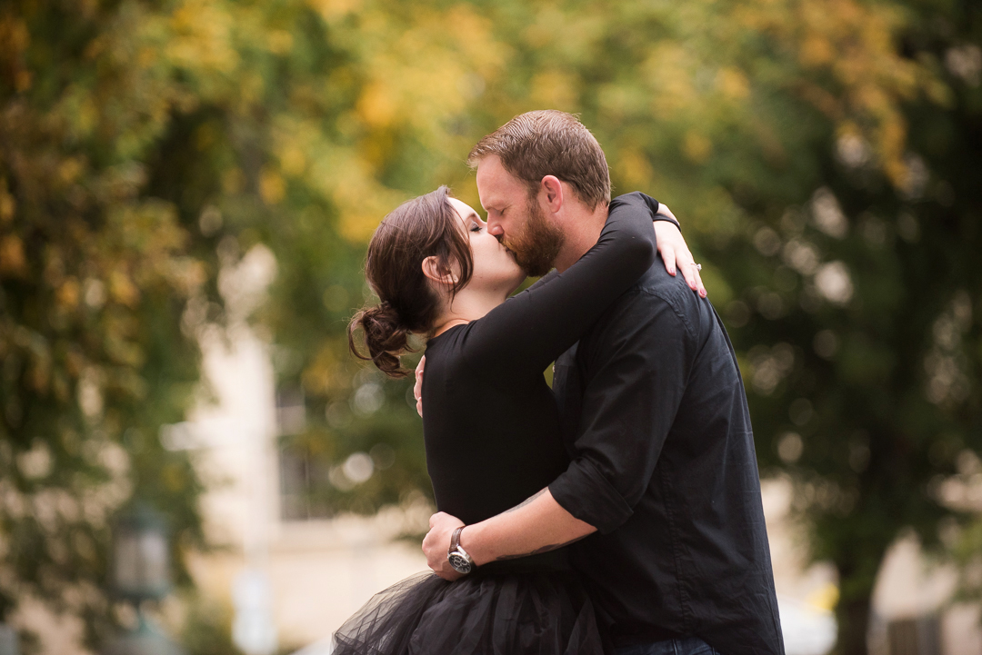 Downtown Wilmington Engagement Session in the Fall