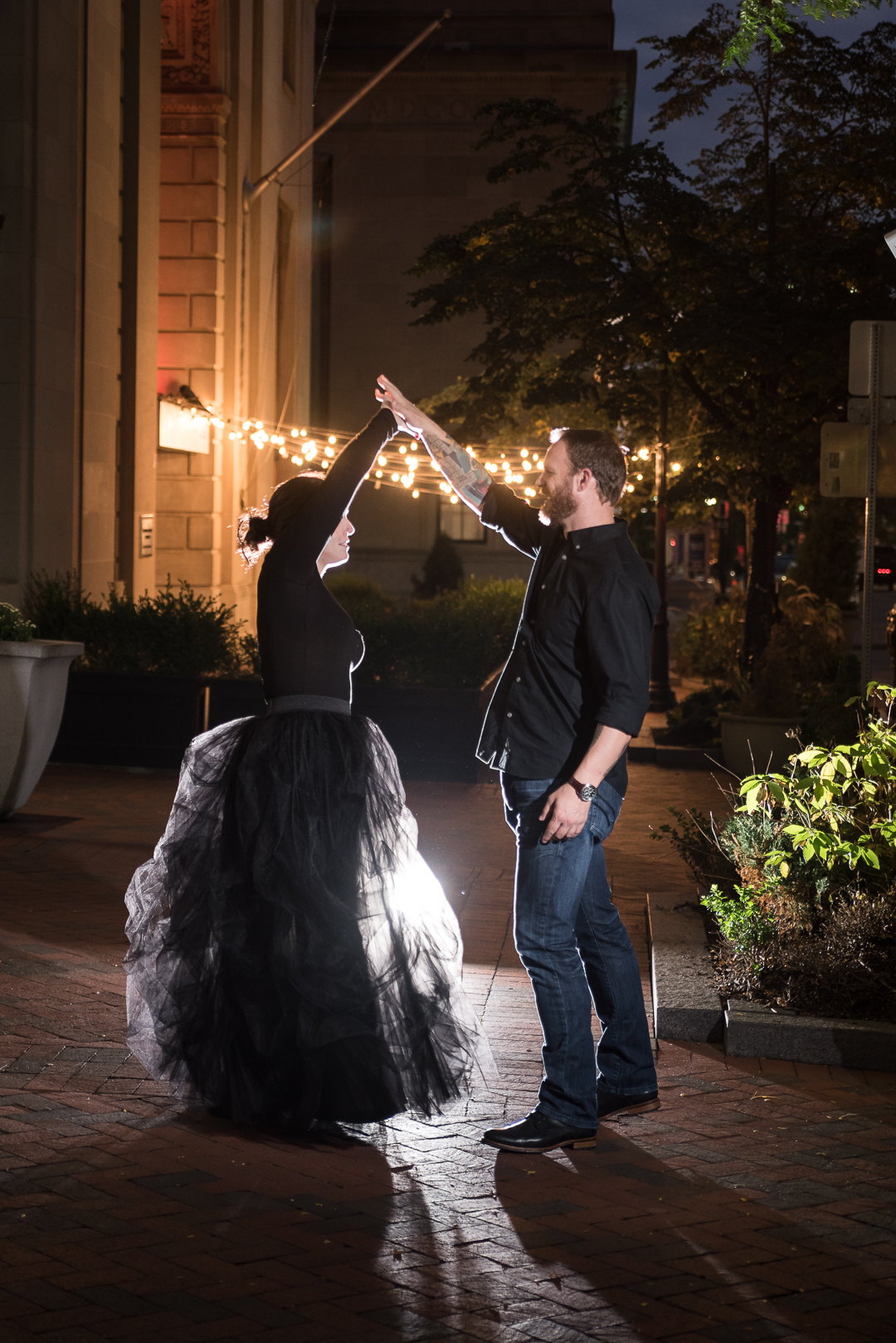 Downtown Wilmington Engagement picture