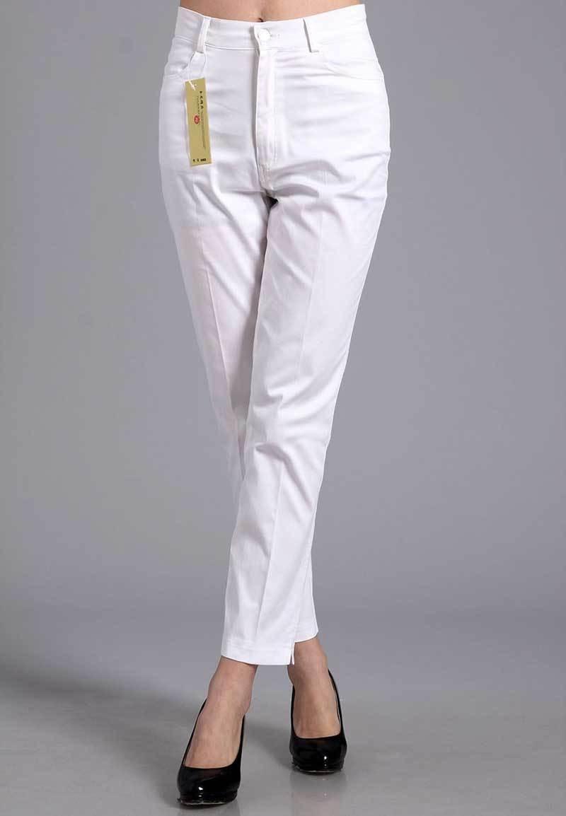Womens High Waist Straight Casual Cotton Trousers Creative