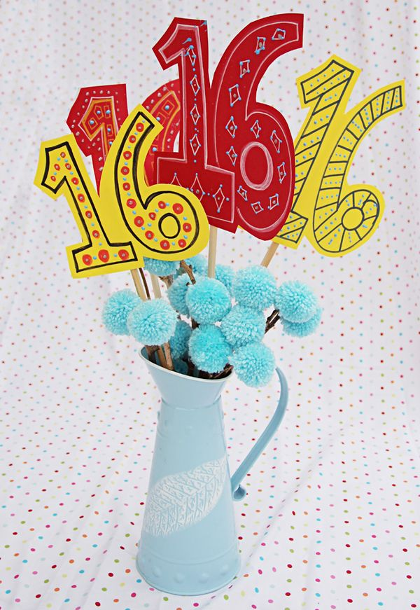 Pom Pom Birthday Bouquet Creative Jewish Mom