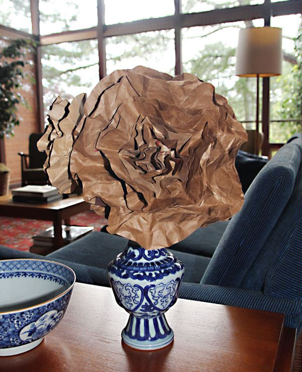 Recycled Paper Bag Flowers  creative jewish mom