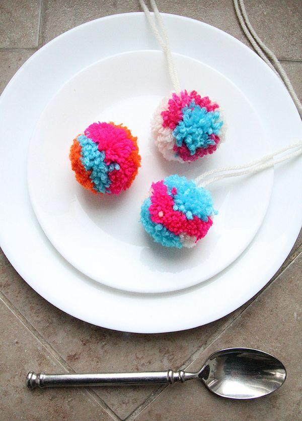Fun MultiColored Pom Pom Craft  creative jewish mom