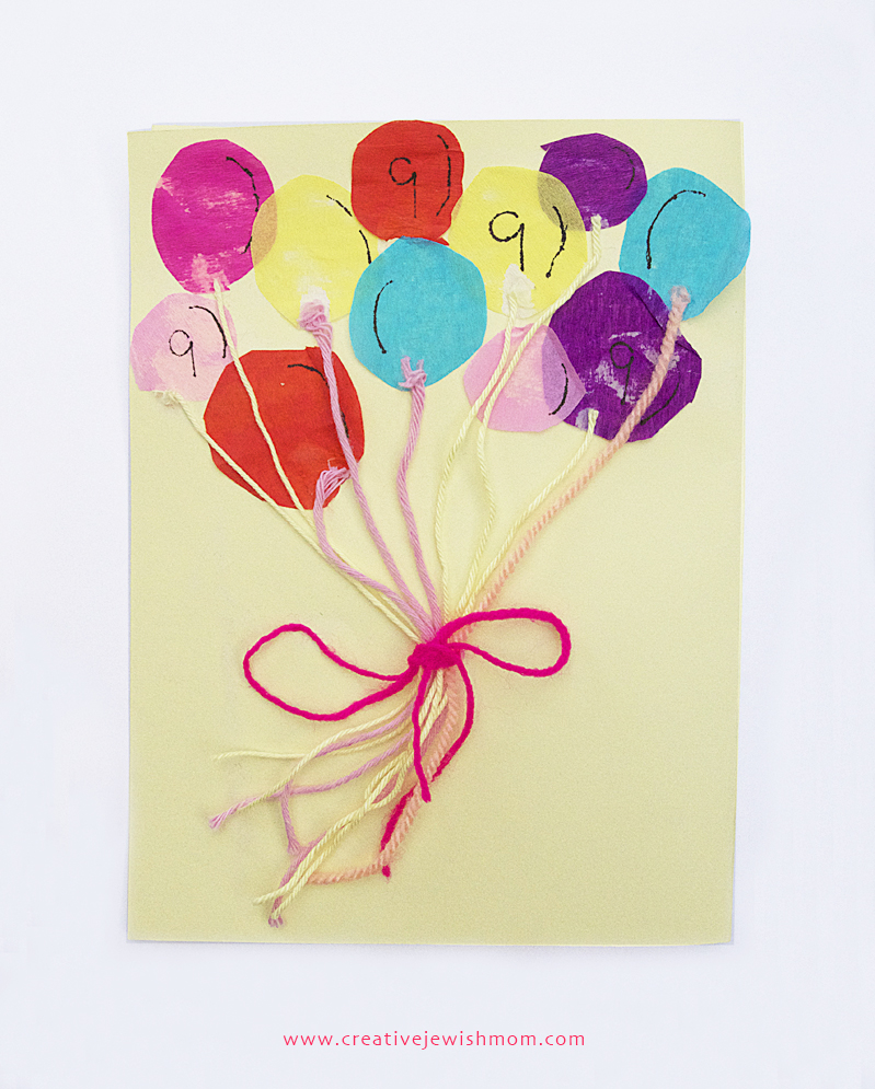 Bunch Of Balloons Birthday Card Craft For Kids Creative