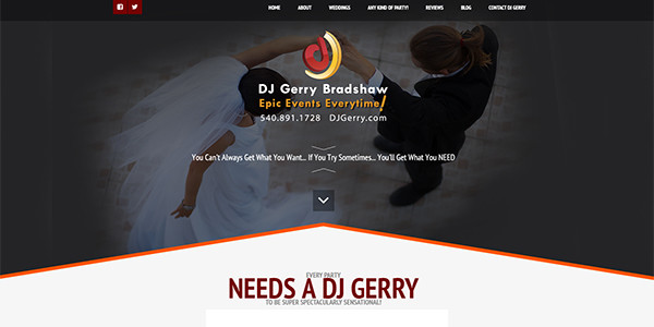 DJ Gerry Bradshaw Wedding Entertainment
