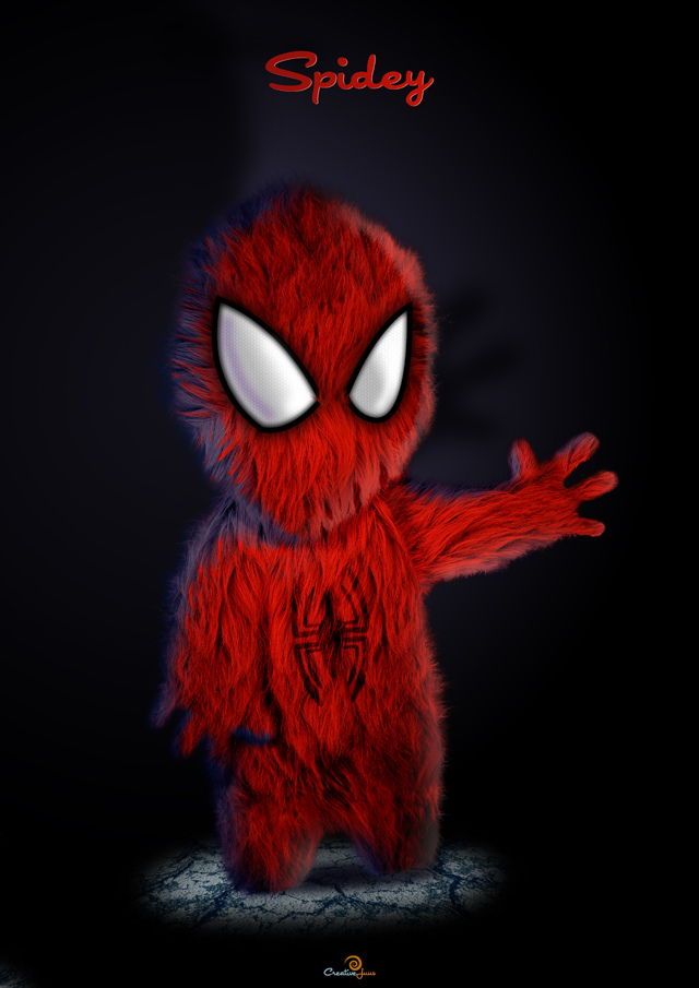 Furry Spidey Illustration