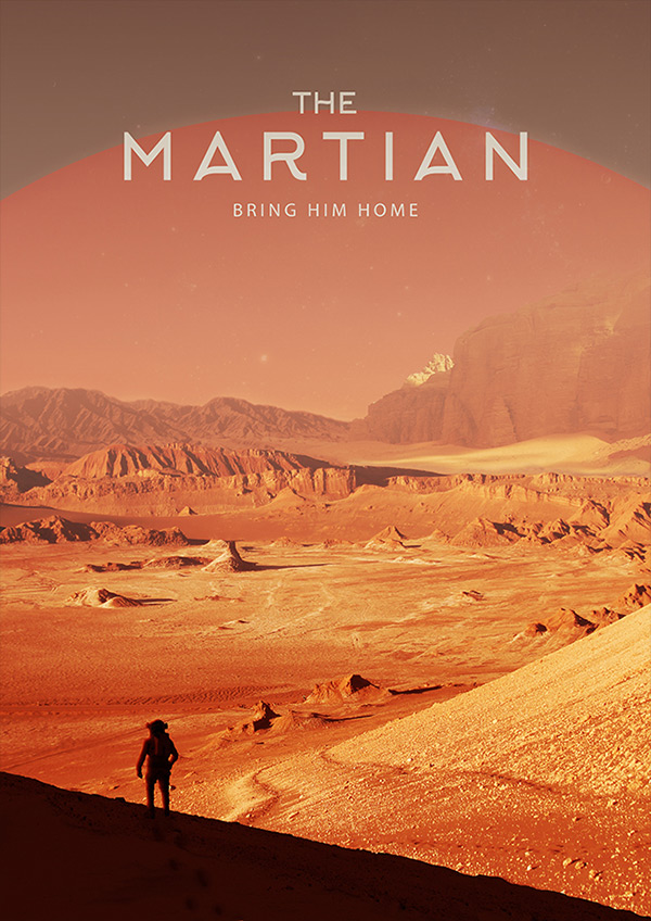 The Martian poster design