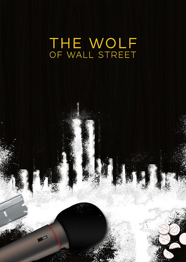 The Wolf of Wall Street Poster design