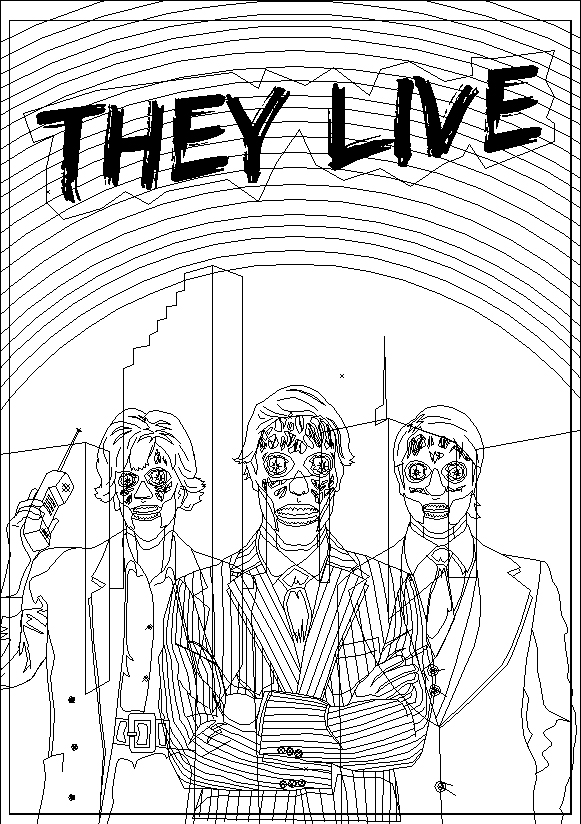 They Live illustrator outline