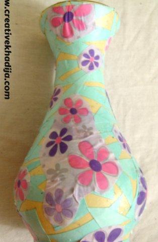 DIY Decoupaged Vase