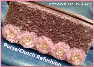 clutch refashion diy