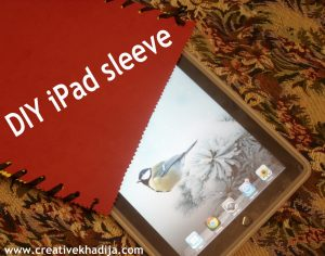 diy ipad sleeve