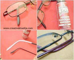 make glitter glasses