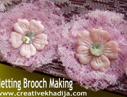 netting brooch making