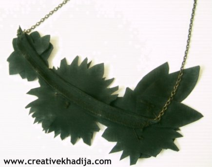 Leather necklace making