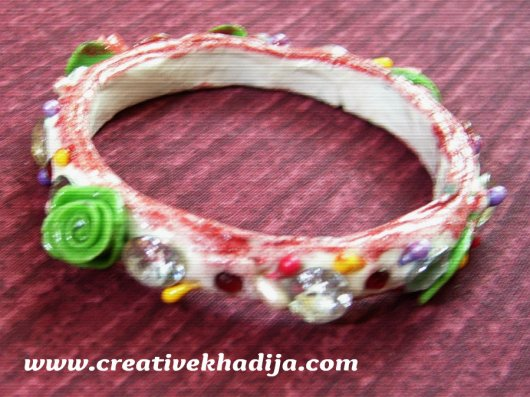 Refashion Old Bangle into Clay Bracelet