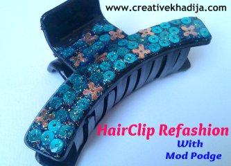 hairclip refashion modpodge DM