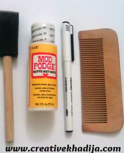 DIY hair comb designing