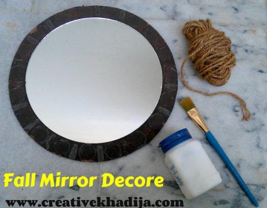 fall mirror decoration ideas