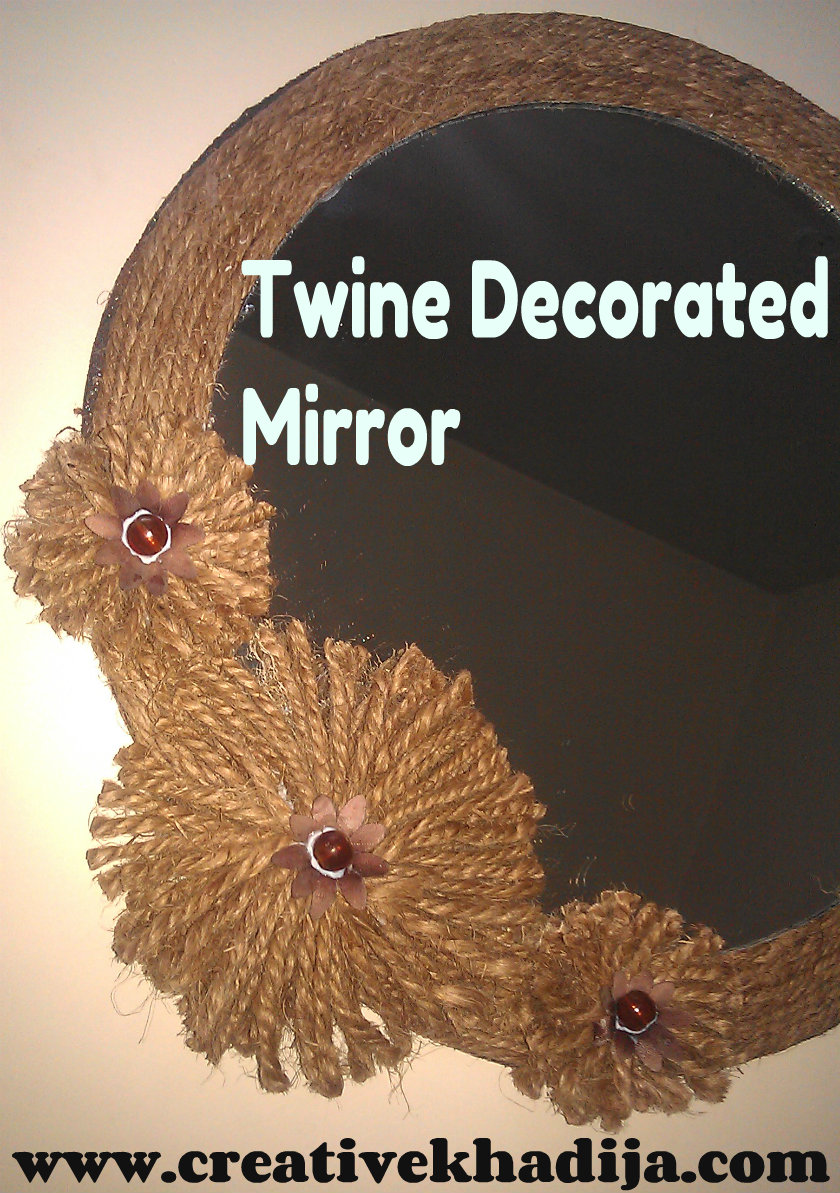 twine craft ideas fall inspired twine decorated mirror 3149
