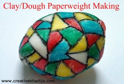clay dough crafts paper weight making