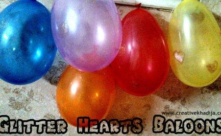 glitter hears baloons making
