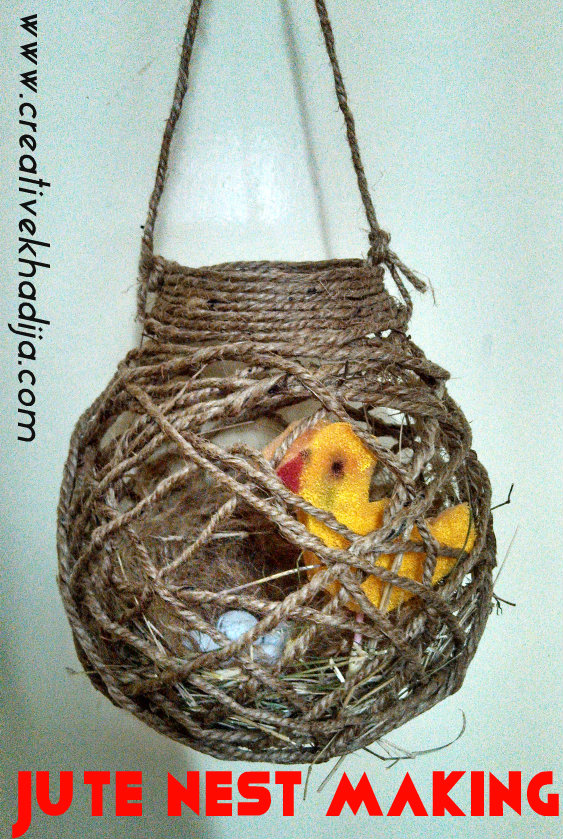 Spring Nest Making With Jute