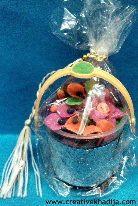 flower basket gift making idea