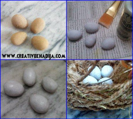 make bird eggs with dough