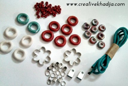 DIY ceramic beads bracelet