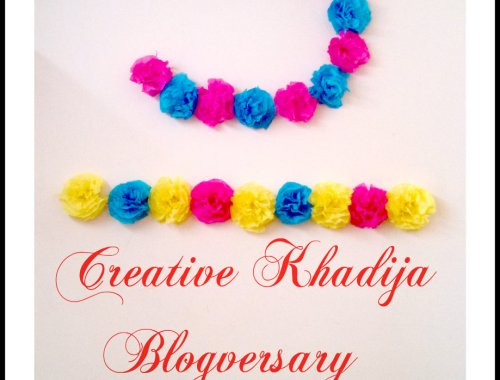 creativekhadija blog birthday blogversary