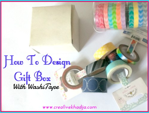 How To Decorate a Gift Box with Washi Tape