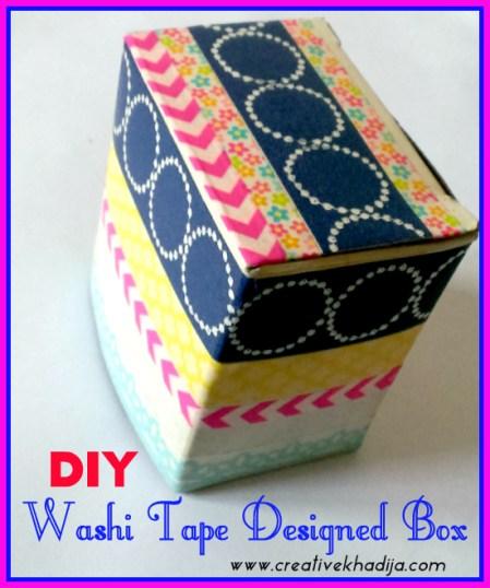 Washi Tape Designed Gift Box