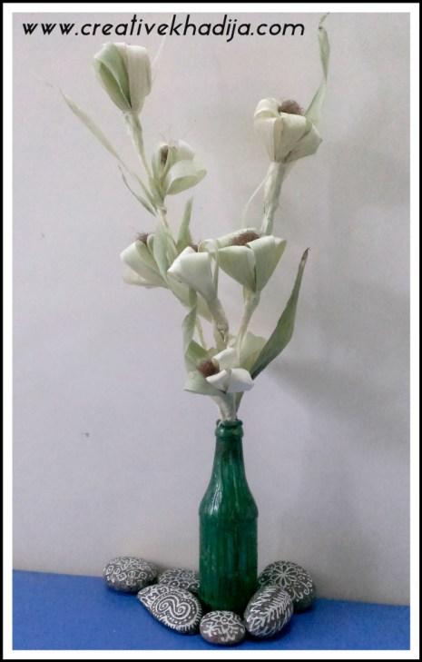 corn husk handmade flowers tutorial