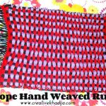 Silk Rope Hand Weaved Rug For Sale