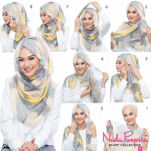 21 beautiful hijab styles and scarf wearing ideas How to wear hijab fashion style step by step dailymotion