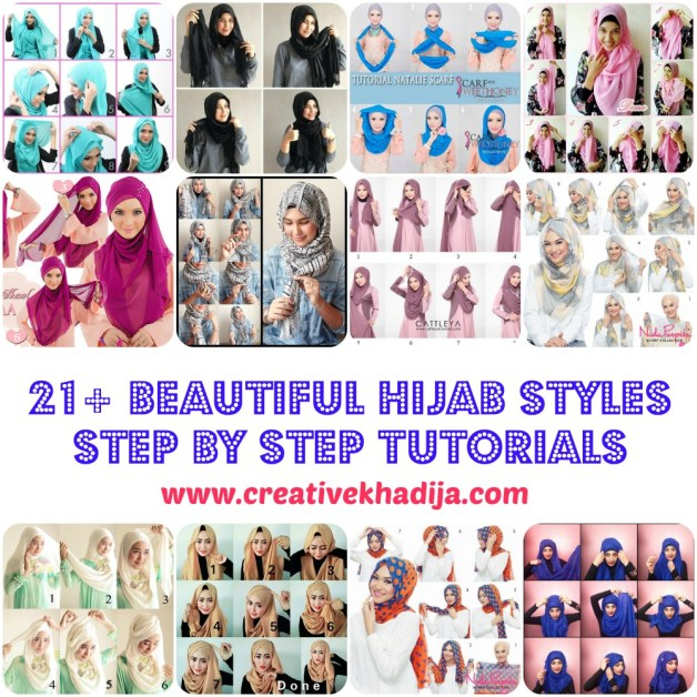 easy beautiful fashionable hijab styles tutorials how-to wear hijab