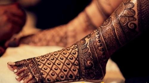 full feet indian mehndi design