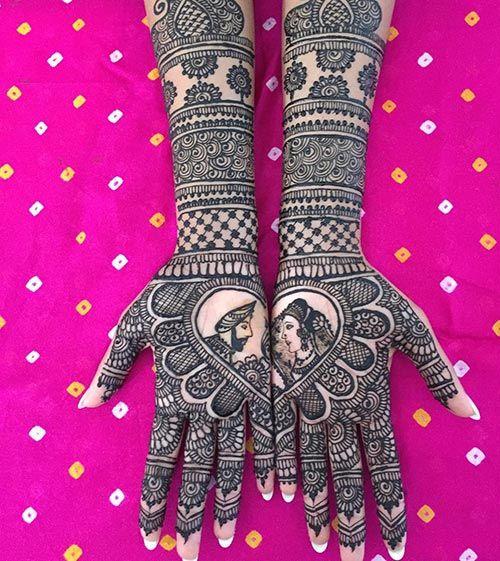 mughal style bridal mehndi