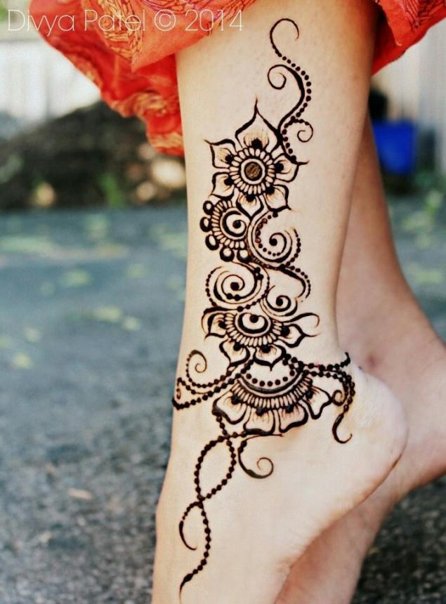 simple henna design for eid
