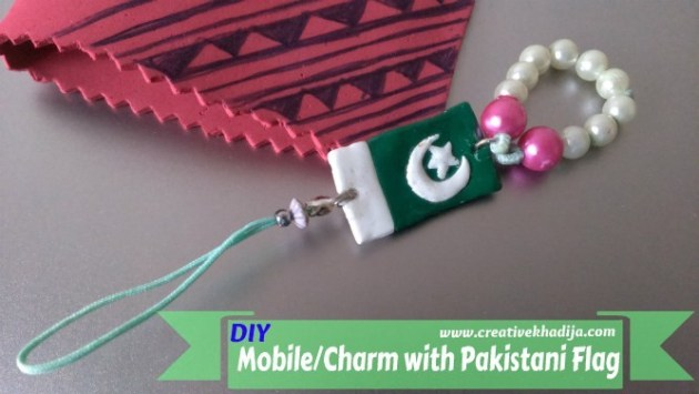 pakistan day clay crafts DIY