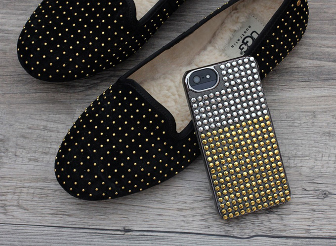 DIY studded phone case