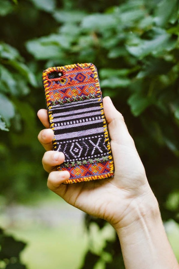 DIY tapestry phone case